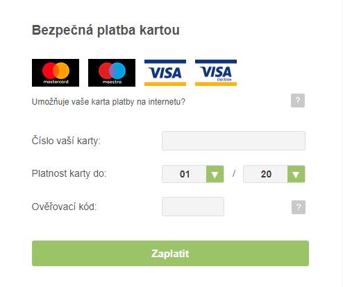 Pole pro online platby